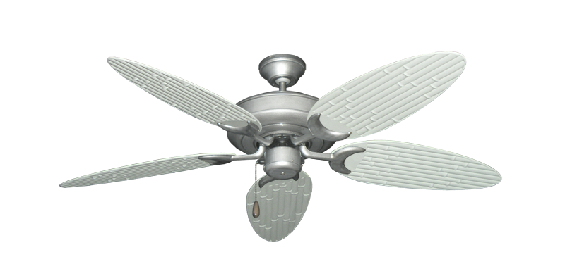 "Picture of Raindance Brushed Nickel BN-1 with 52"" Outdoor Bamboo Pure White Blades"