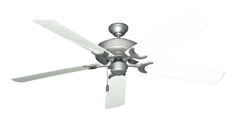 "Picture of Raindance Brushed Nickel BN-1 with 60"" Outdoor Pure White Blades"