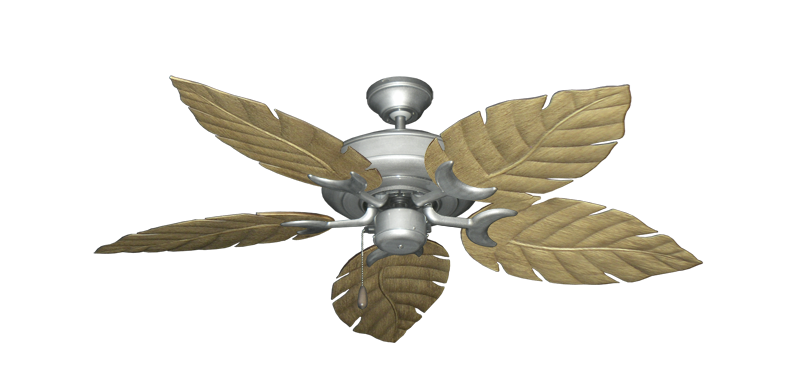 "Picture of Raindance Brushed Nickel BN-1 with 52"" Venetian Walnut Blades"
