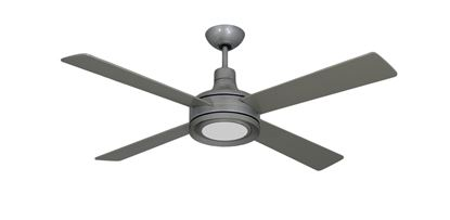 Quantum II 52 in. Brushed Nickel BN-1 Ceiling Fan w/ LED Light and Remote