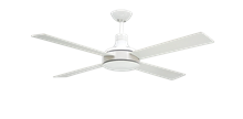 """Picture of Quantum II 52"""" Pure White Ceiling Fan with Remote"""