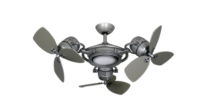 TriStar II 3x 18 in. Brushed Nickel BN-1 Triple Ceiling Fan with LED Light and Remote