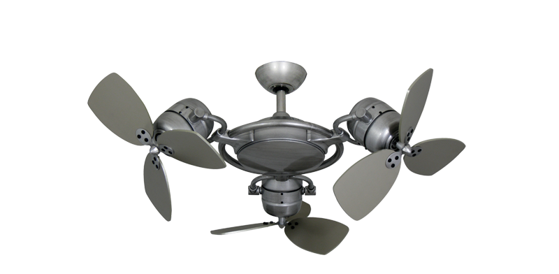 Picture of TriStar II 3x 18 in. Brushed Nickel BN-1 Triple Ceiling Fan with Remote