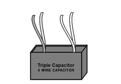 Triple Capacitor - Four Wire