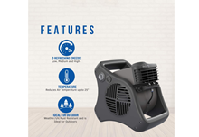 outdoor misting fan with features explained