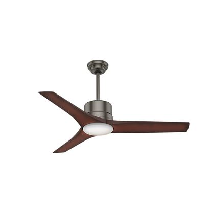 "Casablanca 52"" Piston Brushed Slate Ceiling Fan with Light with Handheld Remote, Model 50450"