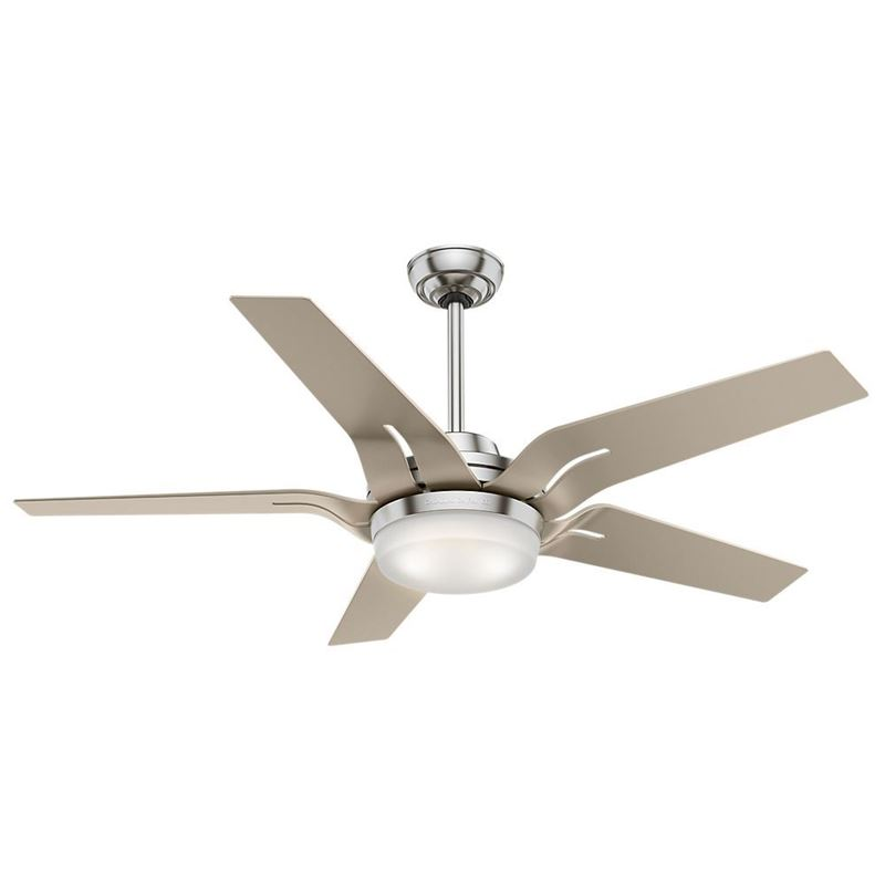 """Picture of Casablanca  56"""" Correne LED Brushed Nickel Ceiling Fan with Light and Handheld Remote, Model 59197"""