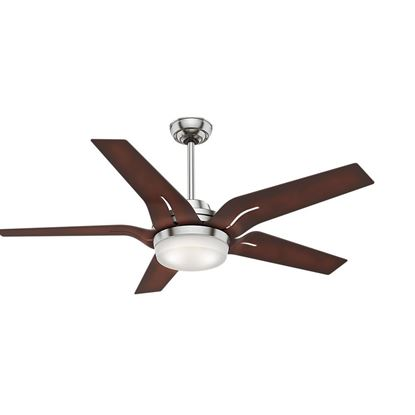 "Picture of Casablanca  56"" Correne w LED Light White B 56 Brushed Nickel Ceiling Fan with Light with Handheld Remote, Model 59198"