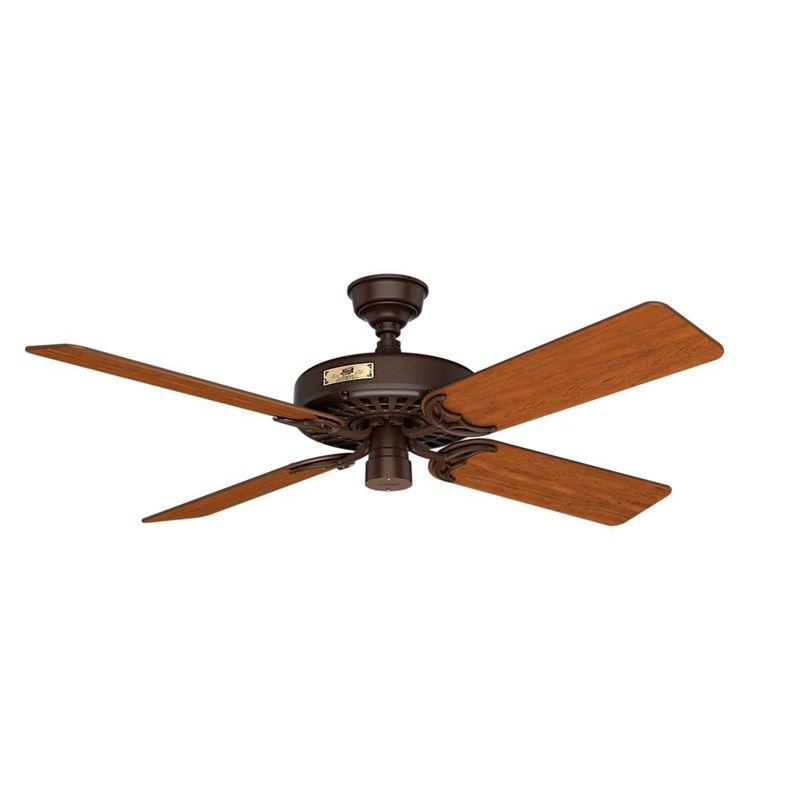 "Picture of Hunter  52"" Outdoor Orig Teak Blades 52 Chestnut Brown Ceiling Fan , Model 23847"