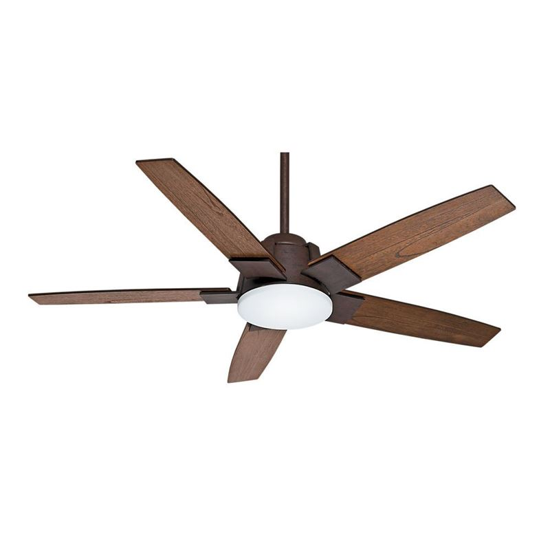 "Picture of Casablanca  56"" Zudio Industrial Rust Ceiling Fan with Light with Wall Control, Model 59111"