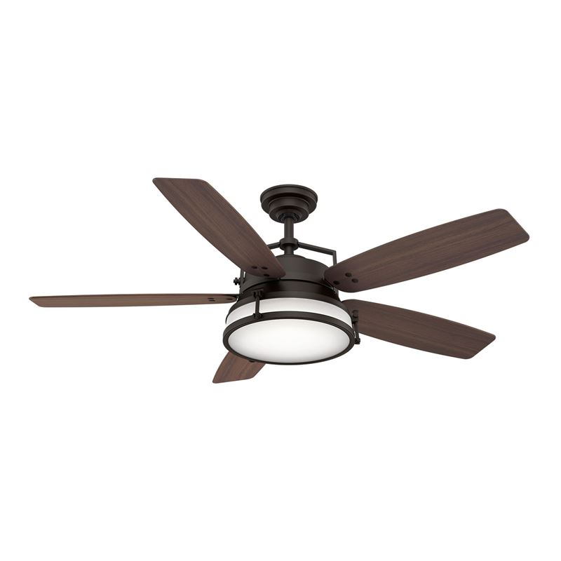 """Picture of Casablanca  56"""" Caneel Bay Maiden Bronze Ceiling Fan with Light with Wall Control, Model 59360"""