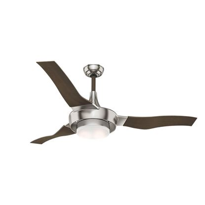 "Picture of Casablanca  64"" Perseus Brushed Nickel Ceiling Fan with Light with Wall Control, Model 59167"