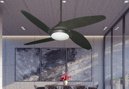 "Tuscan 52"" Indoor Contemporary Ceiling Fan with Remote and 15 Watt LED Light"