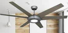 Elegant II 60 in. WiFi Enabled Indoor/Outdoor Brushed Nickel Ceiling Fan and Light