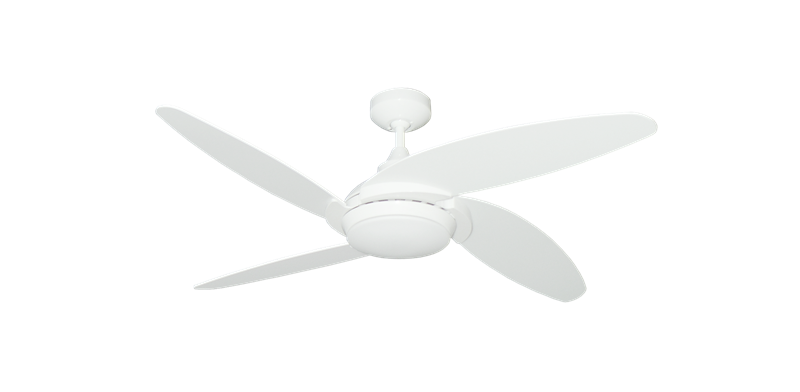 "Picture of Tuscan 52"" Indoor Contemporary Pure White Ceiling Fan with LED Light and Remote"