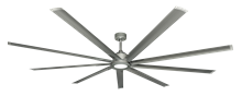 Liberator 96 in. WiFi enabled Indoor/Outdoor Brushed Nickel Ceiling Fan With 18W LED Array Light and Remote (BN-1)