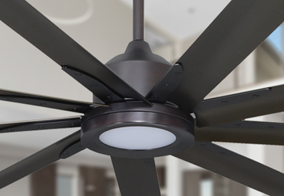 Picture of Liberator 96 in. WiFi Enabled Indoor/Outdoor Oil Rubbed Bronze Ceiling Fan With 18W LED Array Light and Remote