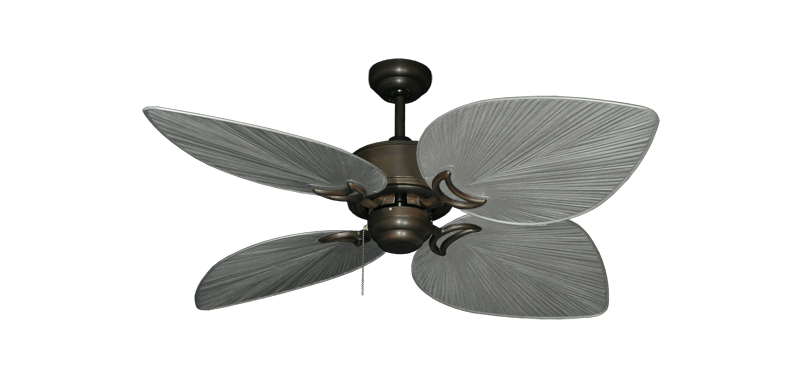 "Bombay Oil Rubbed Bronze with 50"" Bombay Brushed Nickel (BN-1) Blades"