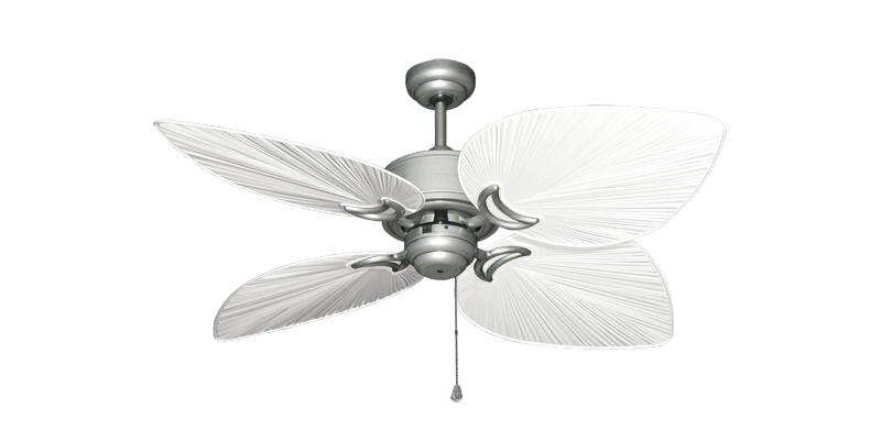 """Bombay Brushed Nickel (BN-1) with 50"""" Bombay Pure White Blades"""