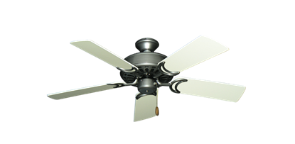 """Picture of Dixie Belle Brushed Nickel with 44"""" Antique White Blades"""