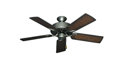 """Picture of Dixie Belle Brushed Nickel with 44"""" Distressed Hickory Blades"""