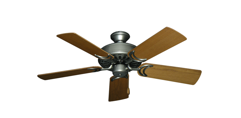 """Picture of Dixie Belle Brushed Nickel with 44"""" Light Oak Blades"""