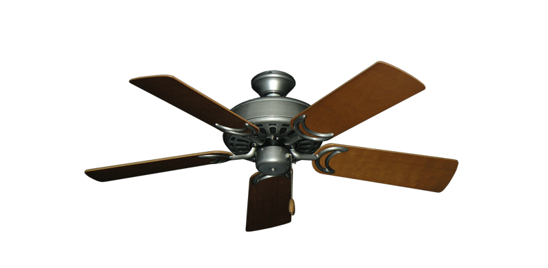 """Picture of Dixie Belle Brushed Nickel with 44"""" Natural Cherry Blades"""