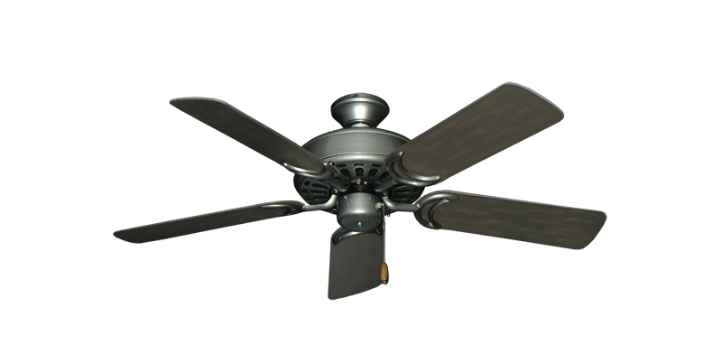 """Dixie Belle Brushed Nickel with 44"""" Outdoor Oil Rubbed Bronze Blades"""