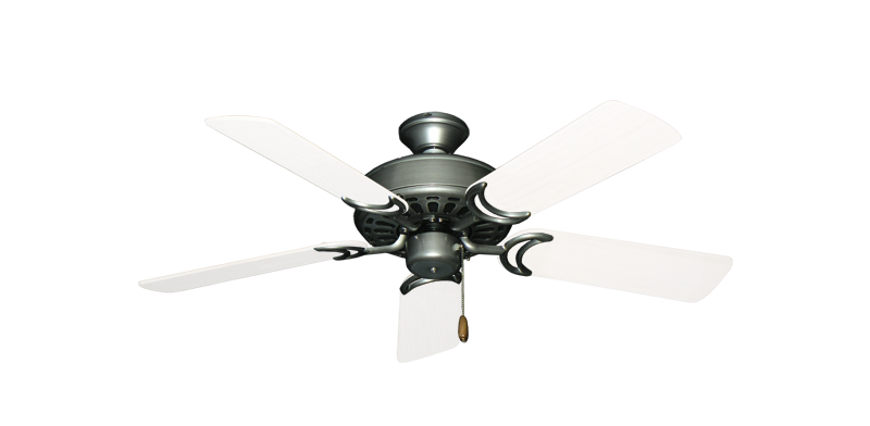 """Dixie Belle Brushed Nickel with 44"""" Outdoor Pure White Blades"""