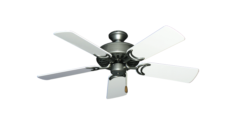 """Dixie Belle Brushed Nickel with 44"""" Pure White Gloss Blades"""