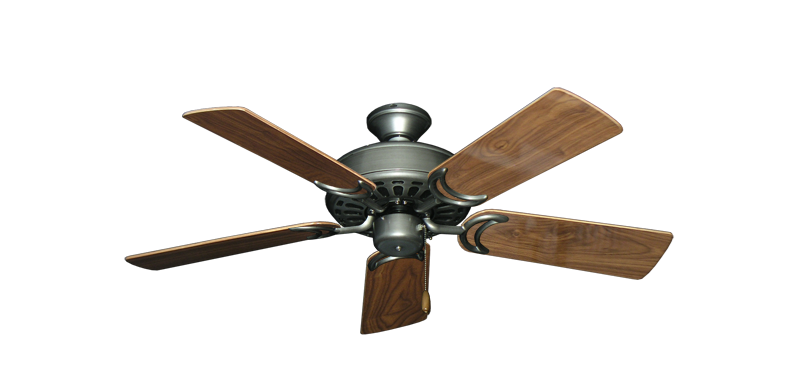 "Picture of Dixie Belle Brushed Nickel with 44"" Walnut Gloss Blades"