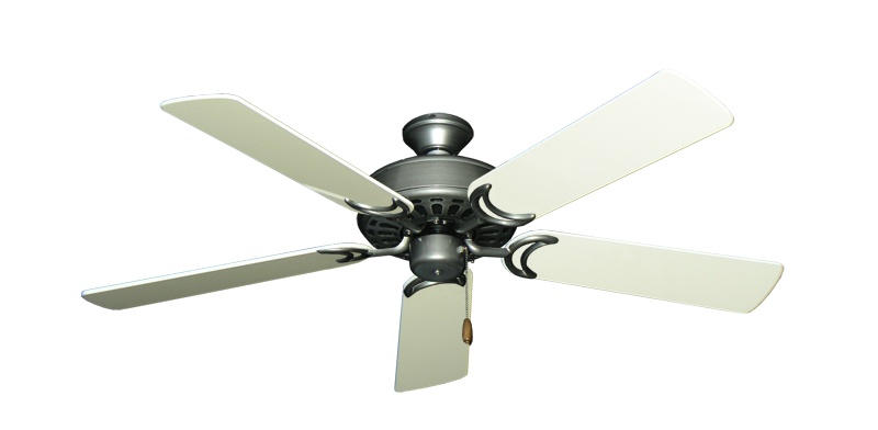 """Dixie Belle Brushed Nickel with 52"""" Antique White Gloss Blades"""