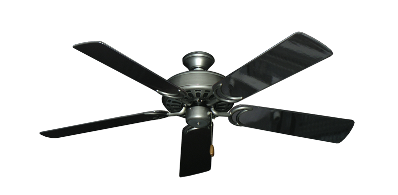 """Picture of Dixie Belle Brushed Nickel with 52"""" Black Gloss Blades"""