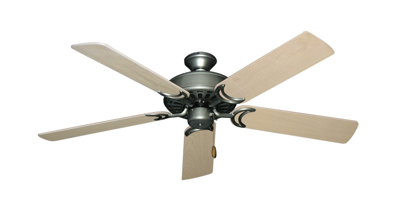 """Picture of Dixie Belle Brushed Nickel with 52"""" Bleached Oak Blades"""
