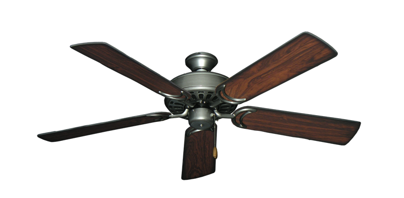 """Dixie Belle Brushed Nickel with 52"""" Burnt Cherry Blades"""