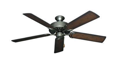 """Dixie Belle Brushed Nickel with 52"""" Distressed Hickory Blades"""