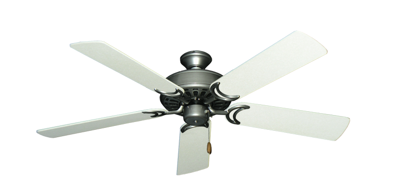 "Picture of Dixie Belle Brushed Nickel with 52"" Navajo White Blades"