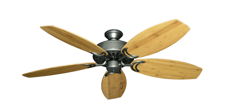 """Picture of Dixie Belle Brushed Nickel with 52"""" Oar Bamboo Brown Blades"""