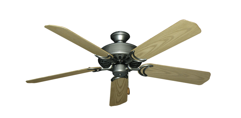 """Dixie Belle Brushed Nickel with 52"""" Outdoor Bleached Oak Blades"""