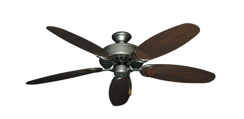 "Picture of Dixie Belle Brushed Nickel with 52"" Outdoor Leaf Brushed Nickel Blades"