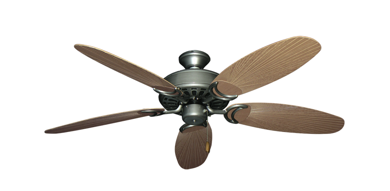 """Dixie Belle Brushed Nickel with 52"""" Outdoor Leaf Tan Blades"""