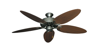 """Picture of Dixie Belle Brushed Nickel with 52"""" Outdoor Palm Brushed Nickel Blades"""