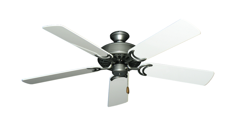 "Picture of Dixie Belle Brushed Nickel with 52"" Pure White Gloss Blades"