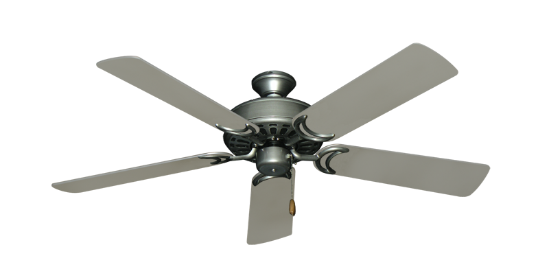 "Picture of Dixie Belle Brushed Nickel with 52"" Satin Steel (painted) Blades"