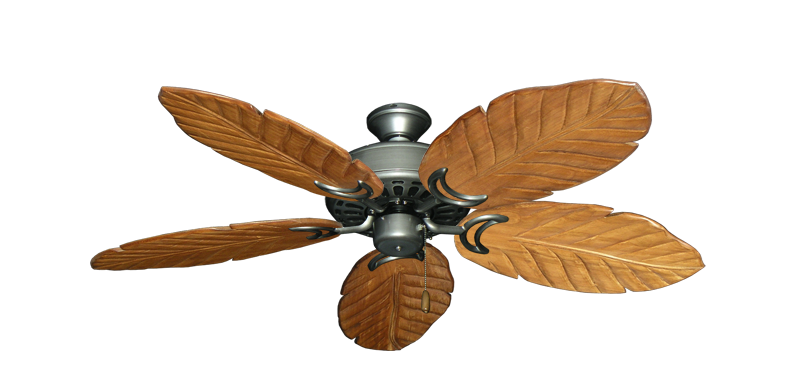"""Picture of Dixie Belle Brushed Nickel with 52"""" Series 125 Arbor Oak Blades"""