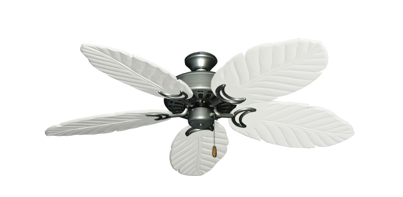 """Picture of Dixie Belle Brushed Nickel with 52"""" Series 125 Arbor Pure White Blades"""