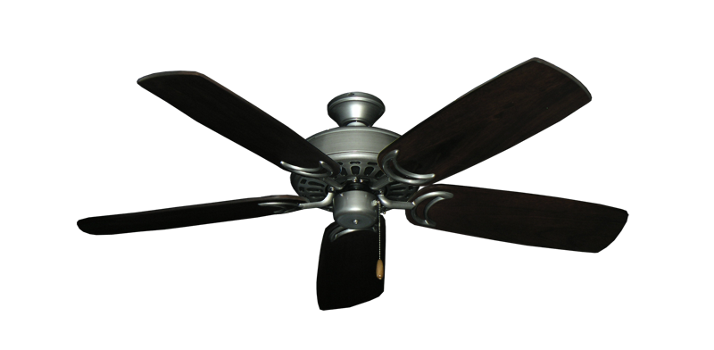 "Picture of Dixie Belle Brushed Nickel with 52"" Series 425 Arbor Dark Walnut Blades"