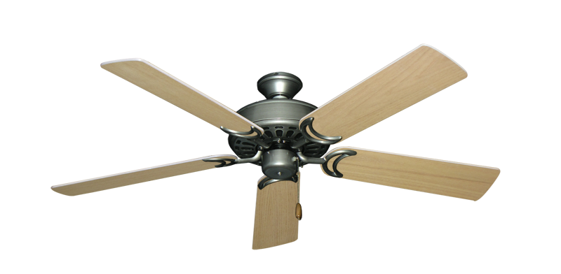 """Picture of Dixie Belle Brushed Nickel with 52"""" Unfinished Oak Blades"""