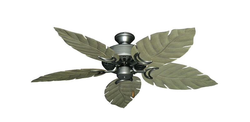 "Picture of Dixie Belle Brushed Nickel with 52"" Venetian Driftwood Blades"