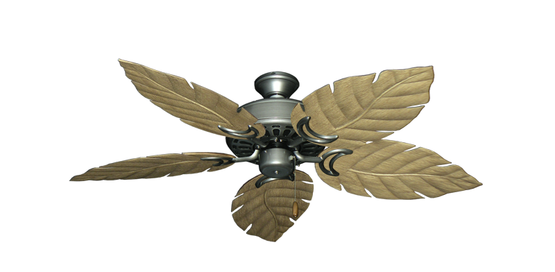 "Picture of Dixie Belle Brushed Nickel with 52"" Venetian Walnut Blades"